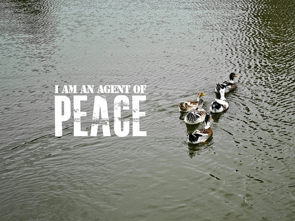 positive affirmations - i am an agent of peace