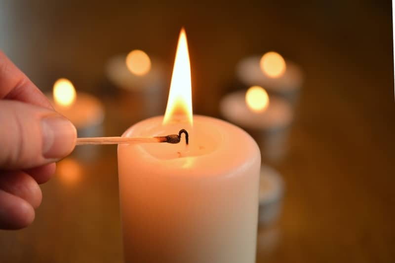 coping with holiday grief light a candle