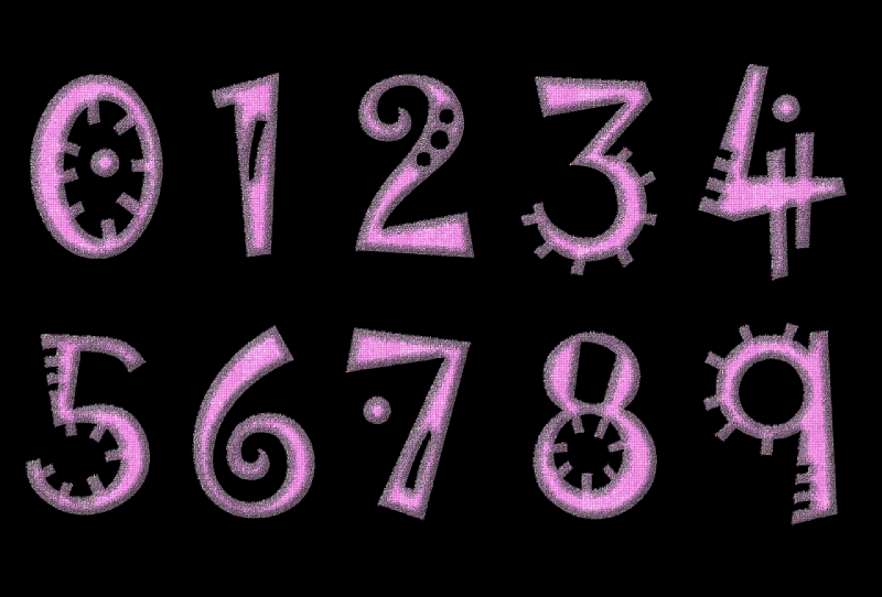 magic energy of numbers pink