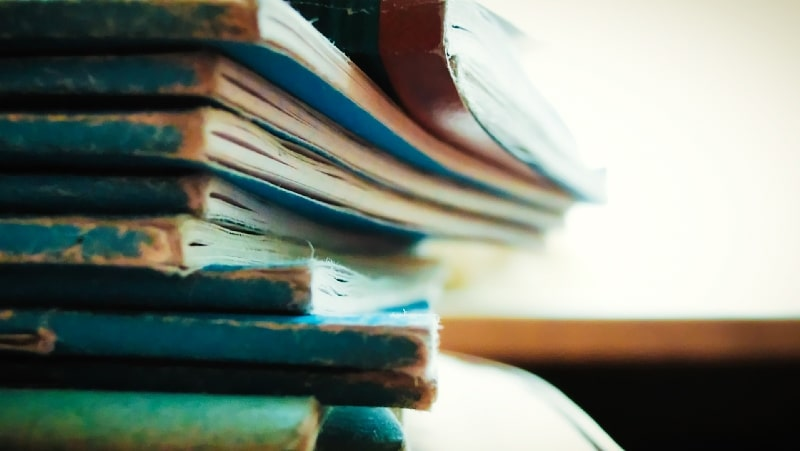 how to keep a psychic journal stack of books
