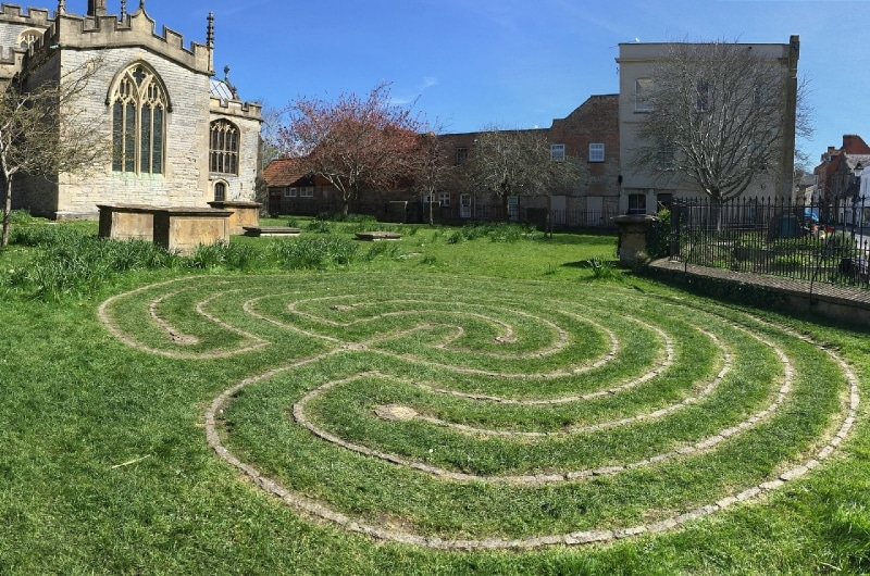active meditation labyrinth