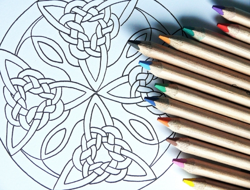 active meditation mandala coloring